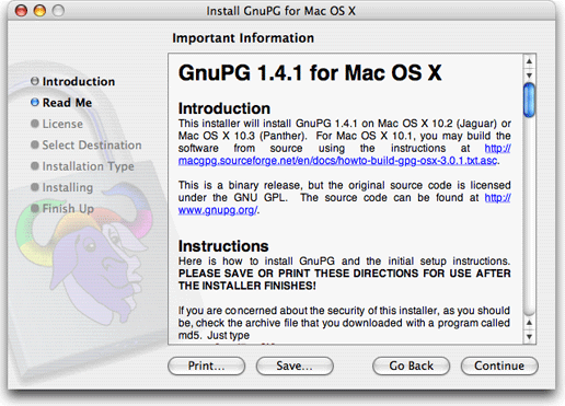 Gnupg for mac os x